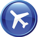 handy shipping icon plane