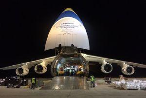 image: Antonov airlines Mozambique France Bollore freight logistics Cyclone Idai humanitarian aid