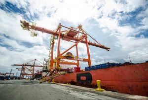 image: Philippines ICTSI container freight handling terminal Manila cargo MICT