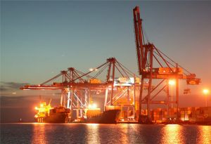 image: DP World Doraleh container terminal Djibouti port facility Camp Lemonnier US government