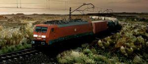 image: DB Schenker Rail Freight Deutsche Bahn multi modal trains German Chancellor Angela Merkel Hans-Peter Friedrich