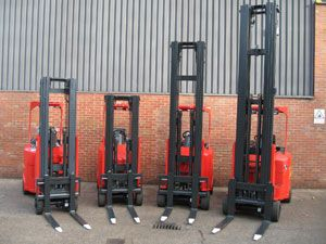image: Flexi Narrow Aisle UK fork lift truck Africa freight operating World Health cargo shift mechanical handling