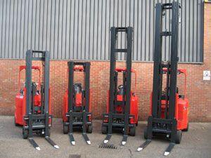 image: Flexi Narrow Aisle UK fork lift truck Africa freight operating World Health cargo shift mechanical handling