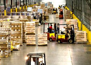 image: UK road haulage freight forwarding logistics event skills employment warehousing