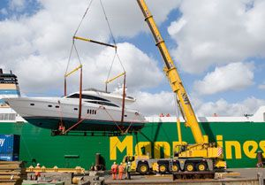 image: Stena Line Mann RoRo ferry logistics project freight forwarding container shipping