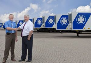 image: UK DFDS logistics reefer trailer RoRo ferry