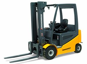 image: UK fork lift materials handling freight logistics supply chain warehouse