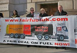 image: UK FairFuel freight logistics truckers road haulage