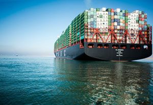 image: Egypt greenest ultra large container ship freight vessel TEU UASC Suez Canal