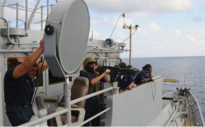 image: Somalia, long, range, acoustic, device, LRAD, pirates, Iraq, offensive, weapons, Japanese, maritime, self-defense, force, US, decibels, cruise, lines, freight, Molotov