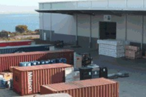 image: Australia seafreight airfreight freight container trucks warehouse handling LCL