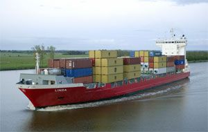 image: Sweden Finnish container ship hazardous 40 foot boxes cargo vessels bulk shipping