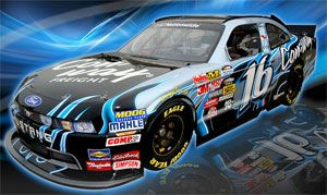 image: US freight logistics less than truck (LTL) NASCAR Braun Ford Mustang