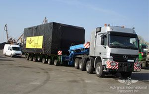 image: Syria logistics shipping container out of gauge flat beds boxes
