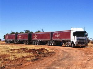 image: Australia road haulage charges A-trailer semi truck