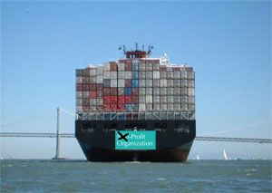 image: Asia US container shipping line freight tonnage TEU FEU boxes