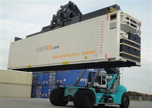 image: Netherlands reefer container intermodal freight carriage