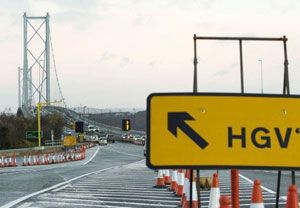 image: UK road haulage freight transport driver Forth bridge hours EU European Commission DfT