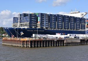 image: CMA CGM container shipping line freight rotation vessel TEU
