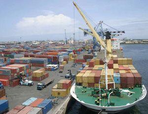 image: Denmark container freight vessels logistics teu cranes TEU box