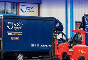 image: UK JJX logistics Flexi VNA fork lift truck warehouse