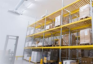 image: UK London Heathrow Airport Gefco freight forwarding logistics temperature controlled warehouse