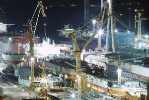 image: Korea container ships tankers bulk freight vessels shipbuilding IMO