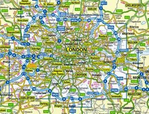 image: UK road haulage lorry route Olympics freight carrier London logistics road network