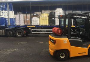 image: UK fork lift truck awards materials handling Flexi Narrow Aisle Jungheinrich Cumbria flood LogiMat
