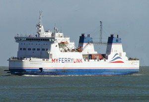 image: Eurotunnel RoRo freight ferry MyFerryLink