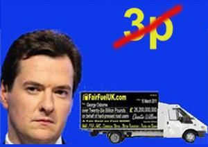 image: UK road haulage freight fuel Osborne Chancellor Autumn Statement