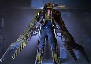image: Daewoo ship freight Aliens shipbuilding Herculean strength robotic suit Iron Man