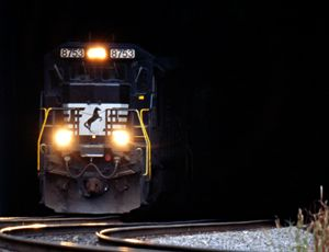 image: US rail freight network strike intermodal truck railroad