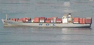 image: Asia container shipping line box feu logistics