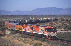 image: Australia rail freight tonnes ports