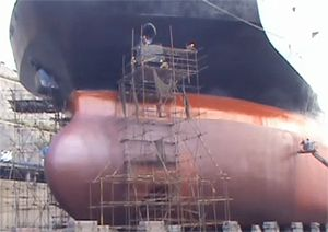 image: Jotun hull protection container ship supertanker fuel emissions antifouling