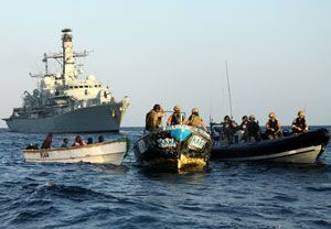 image: UK maritime security freight shipping MoD gun running people smuggling piracy