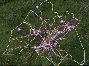 image: Philadelphia Delaware freight app logistics infrastructure road rail ports