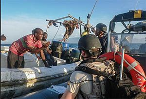 image: Somalia EU Navfor pirates cargo ships container tanker piracy activity Horn of Africa Control Risks