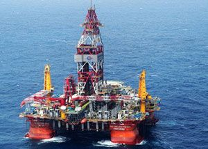 image: People's Republic of China ocean freight shipping oil rig Spratly