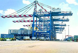 image: Djibouti UAE DP World port logistics freight container terminal seized
