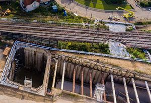 image: Rastatt intermodal freight rail cargo Germany Switzerland Benelux Italy Switzerland forum DB Netz