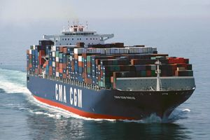 image: Brazil CMA CGM Maersk container shipping port