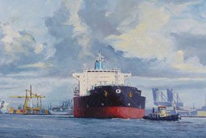 image: UK London Mall Galleries Royal Society of marine artists maritime shipping guide exhibition RSMA free entry