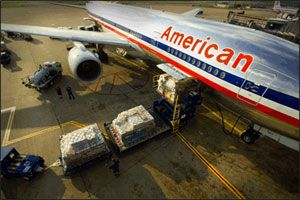 image: China US American Airlines cargo freight