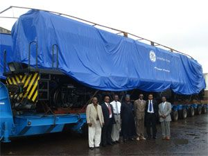 image: Nigeria rail freight trucks cement China