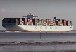 image: UK Shanghai Cosco YangMing container freight alliances cargo