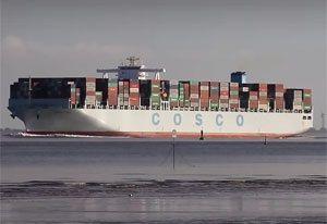 image: UK Shanghai Cosco YangMing container freight alliances cargo