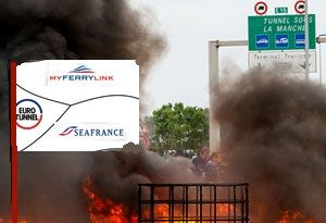 image: France UK RoRo freight ferry industrial Calais strike MyFerryLink SeaFrance SCOP Eurotunnel