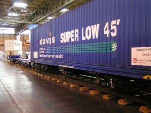 image: UK rail freight and logistics shipping container hi cube box intermodal